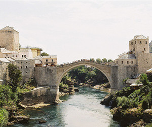 mostar, bridge, and river image