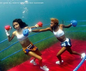 boxing, water, and women image