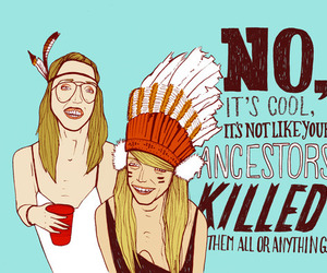 hipster, indian, and feather image