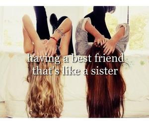sisters, girl, and love image