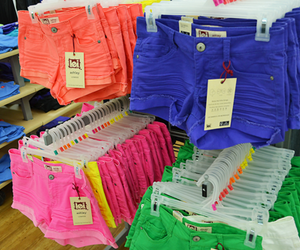 shorts, pink, and blue image