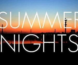 summer, night, and summer nights image