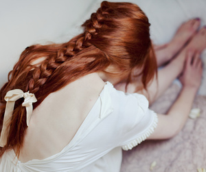 braid, redhair, and dance image