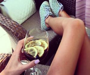 shoes, drink, and nails image