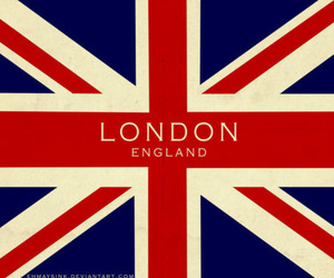 british, london, and red image