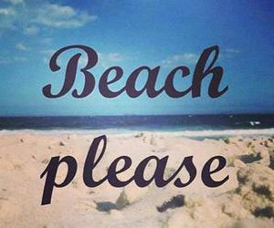 beach, summer, and please image