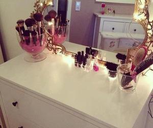 makeup, mirror, and girly image