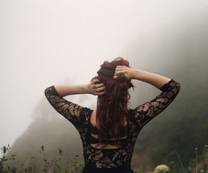 girl, lace, and nature image
