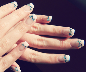 diamonds, girly, and gel nails image