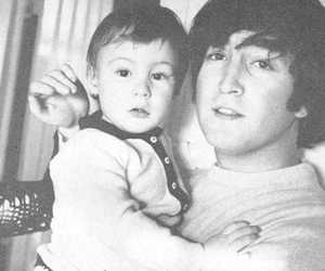 john lennon, beatles, and baby image