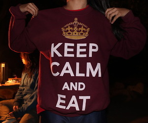 eat, keep calm, and food image