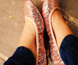 shoes, pink, and flats image