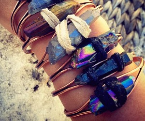 art, beach, and bracelet image