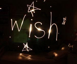 wish, stars, and light image