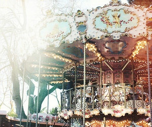 carousel, photography, and vintage image