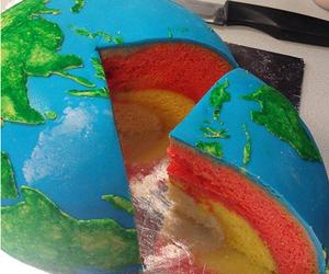 cake, earth, and food image