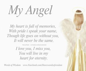 angel, heart, and love quotes image