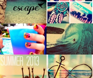escape, summer, and beach image