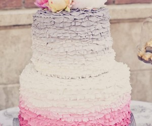 cake, flowers, and pink image