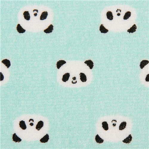 Panda Potty Turquoise Bear Toweling Fabric Cosmo Japan To Make Soft Plush Toys Baby Sewing