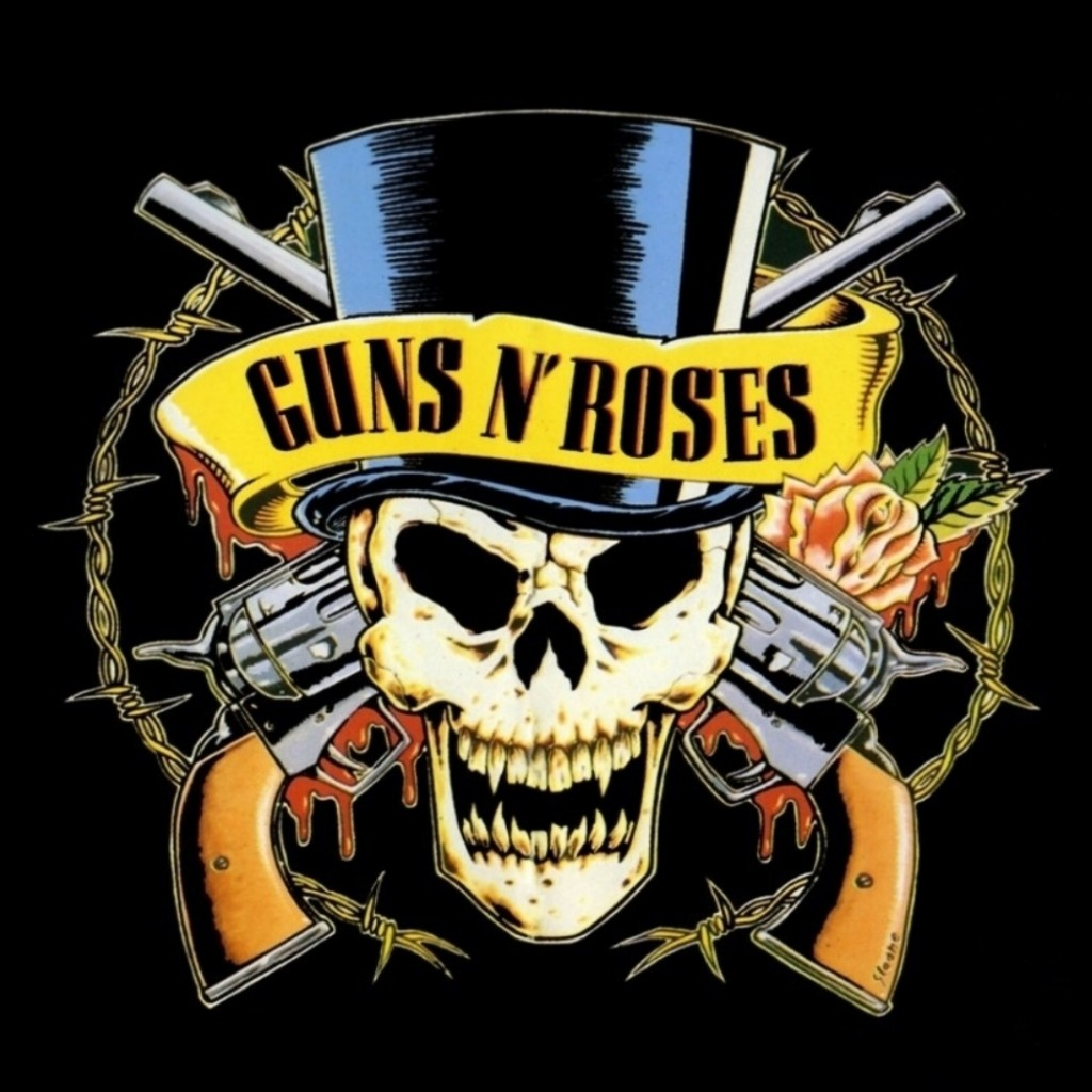 Download Ipad Ipad 2 1024x1024 Guns N Roses Revolvers Skull