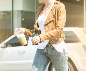 fashion, starbucks, and lucy hale image