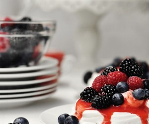 berries, dessert, and meringue image