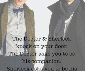 sherlock, doctor who, and matt smith image