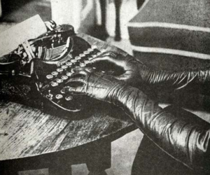 black and white, gloves, and leather image