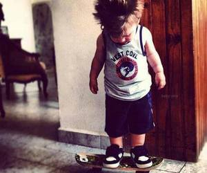 cute, skate, and baby image