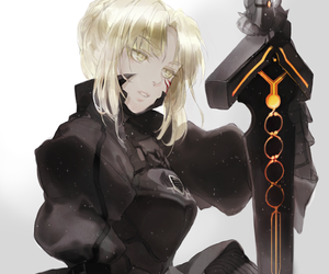 anime, stay night, and black saber image