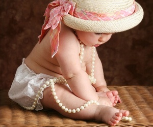 baby, floral, and girl image