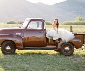 country, girl, and truck image