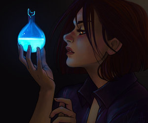 blue, girl, and potion image