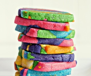 cookie, rainbow, and sweets image