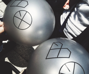 balloon, exo, and wolf image