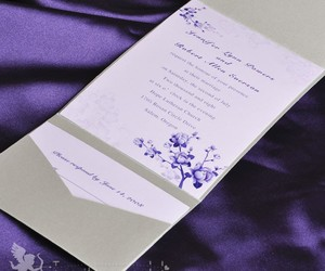 floral, invitations, and wedding image