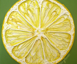 yellow, string art, and lemon slice image