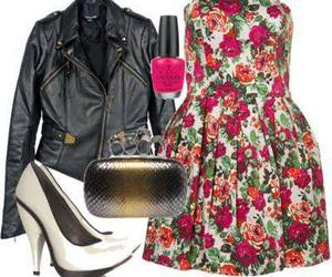 dress, nails, and bag image