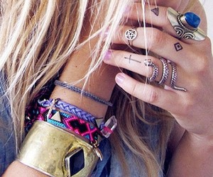 accessories, blonde, and cool image