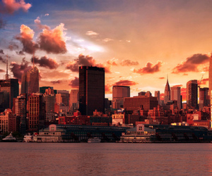 buildings, clouds, and new york image