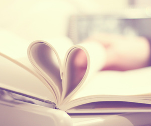 book, heart, and vintage image