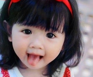 cute, baby, and red image