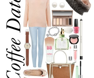 outfit, coffee, and cute image
