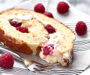 raspberry, cake, and food image