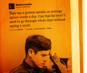 misfits, quote, and simon image