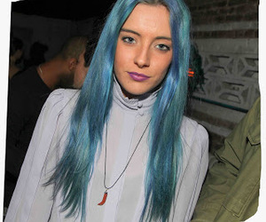 blue, coloured, and hair image