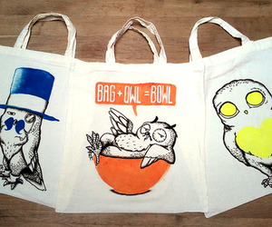 bag and owls image