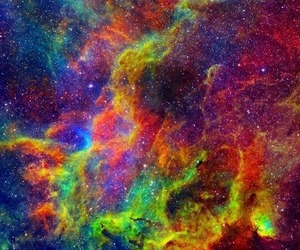galaxy, colors, and universe image
