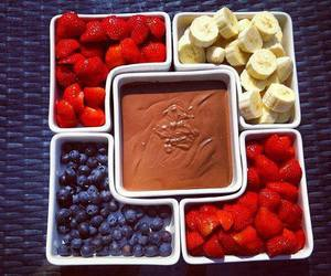 chocolate, strawberry, and fruit image